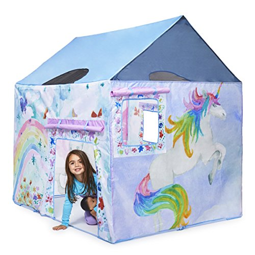 Unicorn Play Tent Girls With Carrying Case 47 X 58 X 58