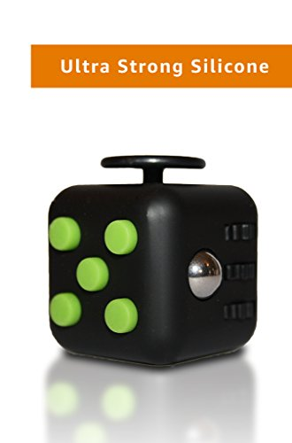 Ultra-Strong-Fidget-Cube-by-Wedual-Made-of-High-end-Silicone-Available-in-13-Colors-Twiddle-Dice-Toy-reliefs-Stress-Anxiety-ADHD-and-Boredom-Amazon-Prime-Perfect-for-adults-and-children-0