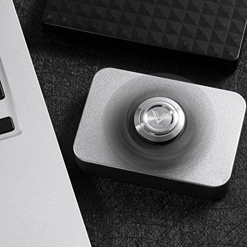 VHEM-Fidget-Spinner-Hand-EDC-Toy-Premium-High-Speed-Finger-Spinner-Relieves-Stress-and-AnxietyAluminium-Alloy-Black-0-0