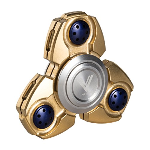 VHEM-Fidget-Spinner-Titanium-Premium-Hand-Spinner-EDC-Toy-Up-to-5min-High-Speed-Relieves-Stress-and-Anxiety-For-ADDADHDASDOCDGolden-0-0