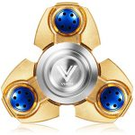 VHEM-Fidget-Spinner-Titanium-Premium-Hand-Spinner-EDC-Toy-Up-to-5min-High-Speed-Relieves-Stress-and-Anxiety-For-ADDADHDASDOCDGolden-0