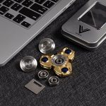 VHEM-Fidget-Spinner-Titanium-Premium-Hand-Spinner-EDC-Toy-Up-to-5min-High-Speed-Relieves-Stress-and-Anxiety-For-ADDADHDASDOCDGolden-0-2