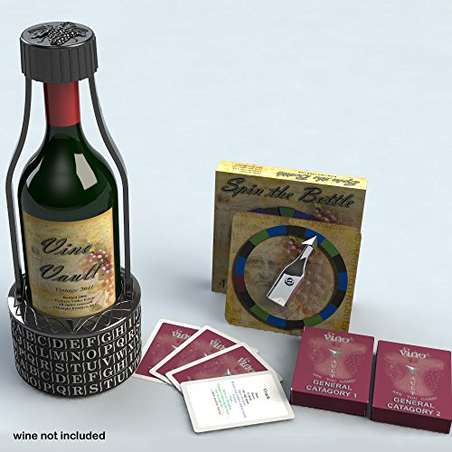 Vino-Vault-Wine-Holder-Puzzle-Wine-Game-Deluxe-Set-with-Spin-the-Bottle-Trivia-Game-0