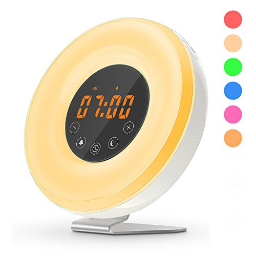 Wake Up Light Digital Alarm Clock Sunrise Simulation 7