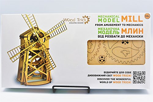 Wood Trick Windmill Wind Mill Mechanical Models 3d Wooden Puzzles Diy Toy Assembly Gears Constructor Kits For Kids Teens And Adults Hobby Leisure