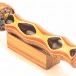 Wooden-Double-Wheeled-Kaleidoscope-Ebony-and-teak-Inlaid-10-Long-Double-Wheel-By-N-J-0