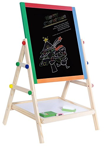 Yarmoshi My First Wooden Drawing Board Easel Double Sided