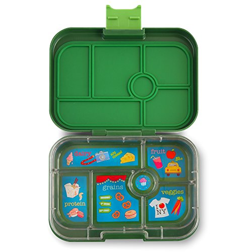 yumbox original brooklyn green leakproof bento lunch box container for kids hobby leisure mall. Black Bedroom Furniture Sets. Home Design Ideas