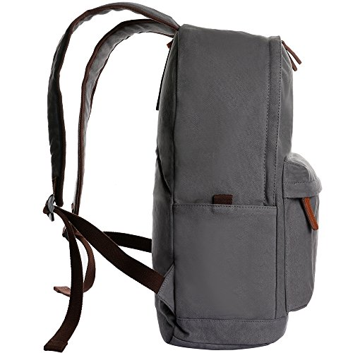 Ibagbar Unisex Classic Canvas Backpack School Bag Travel