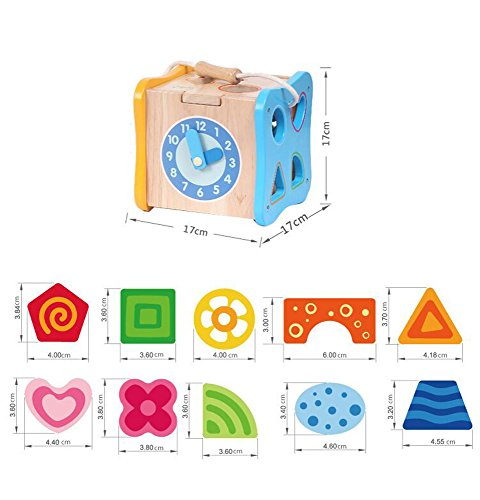 rolimate Multi-function Preschool Early Educational Development Wooden  Puzzles Toy Box, Best Christmas Gift Toy for Age 3 4 5 Child Kids Toddlers  Baby