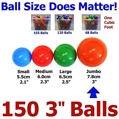 150-pcs-Large-31-Crush-Proof-non-PVC-Phthalate-Free-Plastic-Ball-Pit-Balls-Air-Filled-in-5-Colors-Guaranteed-Crush-Proof-0-0