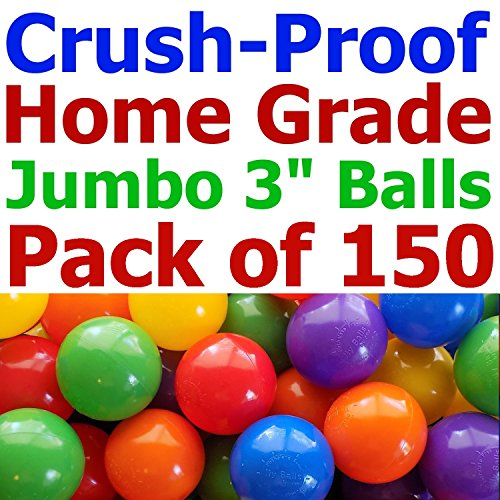 150-pcs-Large-31-Crush-Proof-non-PVC-Phthalate-Free-Plastic-Ball-Pit-Balls-Air-Filled-in-5-Colors-Guaranteed-Crush-Proof-0