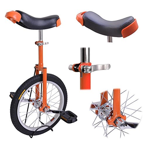 18-Inches-Wheel-Skid-Proof-Tread-Pattern-Unicycle-W-Stand-Uni-Cycle-Bike-Cycling-ORANGE-0-1
