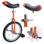 18-in-Wheel-Unicycle-Exercise-Leakproof-Tire-Cycling-Orange-w-Storage-Stand-0-0