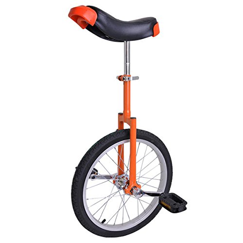18-in-Wheel-Unicycle-Exercise-Leakproof-Tire-Cycling-Orange-w-Storage-Stand-0
