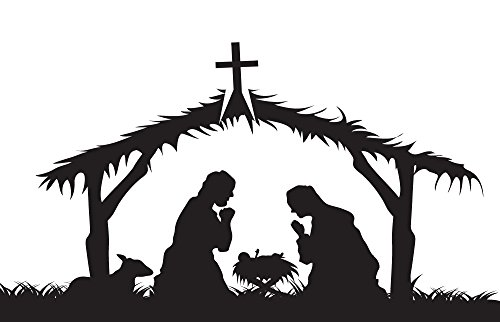 2-X-4-vinyl-banner-christmas-banners-for-church-religious-christmas-banners-for-sale-Attractive-and-Beautiful-black-and-white-banner-of-Jesus-birth-with-mother-Marry-father-Joseph-and-a-goat-christmas-0