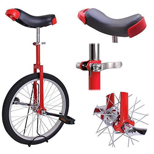 20-Inch-Mountain-Bike-Wheel-Unicycle-with-Quick-Release-Adjustable-Seat-Color-Red-0-0