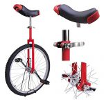 20-Inches-Wheel-Skid-Proof-Tread-Pattern-Unicycle-W-Stand-Uni-Cycle-Bike-Cycling-RED-0-0