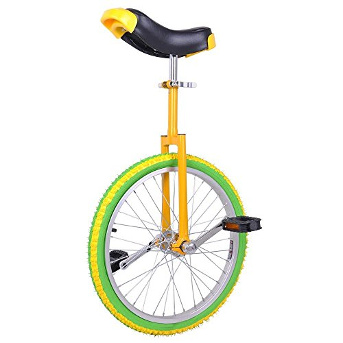 20-Mountain-Bike-Wheel-Unicycle-with-Quick-Release-Adjustable-Seat-Color-Lemon-0