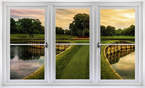 24 Golf Course Window Decal Hole 17 Tpc Sawgrass