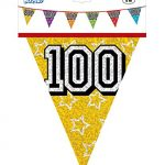 26ft-Number-100-Multi-Colour-Penant-Banner-Bunting-Birthday-Party-Anniversary-0-0