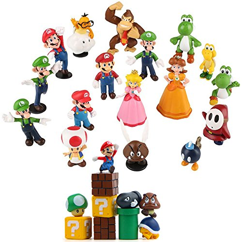 28 Pcs Super Mario Brothers Figures Set Cake Toppers 1 2