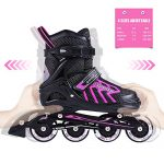 2pm-Sports-Brice-Pink-Adjustable-Illuminating-Inline-Skates-with-Full-Light-Up-LED-Wheels-Fun-Flashing-Rollerblades-for-Girls-0-0