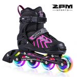 2pm-Sports-Brice-Pink-Adjustable-Illuminating-Inline-Skates-with-Full-Light-Up-LED-Wheels-Fun-Flashing-Rollerblades-for-Girls-0