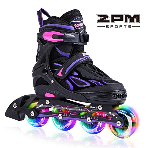 2pm-Sports-Vinal-Girls-Adjustable-Flashing-Inline-Skates-All-Wheels-Light-Up-Fun-Illuminating-Rollerblades-for-Kids-and-Ladies-Start-Roller-Skating-Today-0