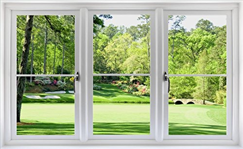 48-Golf-Course-Window-Wall-Decal-Hole-12-at-Augusta-National-Amen-Corner-PGA-Masters-WindowScape-Wall-Graphic-Decal-Sticker-Home-Kids-Game-Room-Mural-Art-Decor-NEW-0-1