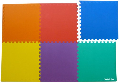 72-Sq-Ft-set-of-18-borders-We-Sell-Mats-Anti-Fatige-Interlocking-EVA-Foam-Flooring-Set-of-six-Multi-Color-Tiles-Each-2x2x38-Thick-0