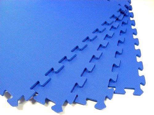 96-Square-Feet-24-tiles-borders-We-Sell-Mats-2-x-2-x-38-Anti-Fatigue-Interlocking-EVA-Foam-Exercise-Gym-Flooring-Blue-Available-0
