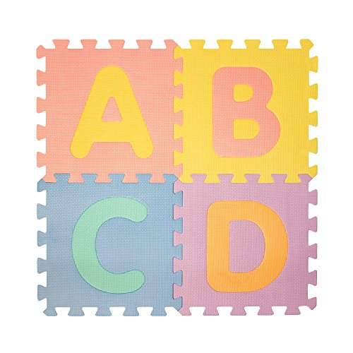 Abc Mats For Kids Get Rung Fitness Mat With Interlocking Tiles Foam Floor Alphabet And Number Puzzle Mat For Children