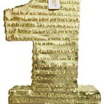 APINATA4U-Large-Number-One-Pinata-Gold-Color-24-Tall-0