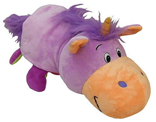 As Seen On Tv Flipazoo 16 Plush 2 In 1 Pillow Lavendar Unicorn
