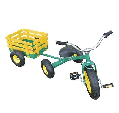 All-Terrain-Tricycle-with-Wagon-Green-CART-042-0