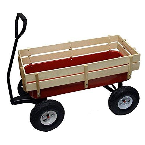 All Terrain Wagon Big Wheel Garden Red Steel