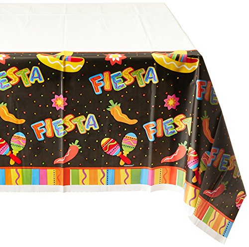 Amscan-Fiesta-Fun-Cinco-De-Mayo-Party-Rectangular-Table-Cover-Tableware-Paper-54-x-102-Childrens-Tablecovers-6-Piece-0