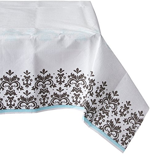 Amscan-Love-Always-and-Forever-Wedding-Party-Damask-Printed-Table-Cover-Plastic-54-x-102-Childrens-Tablecovers-6-Piece-0