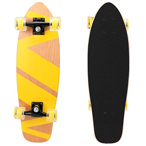 Ancheer-27-Cruiser-Skateboard-Complete-9-layer-Canadian-Maple-Wood-Skate-Board-for-Kids-Tenns-Adults-0-0