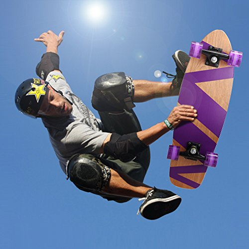 Ancheer-27-Cruiser-Skateboard-Complete-9-layer-Canadian-Maple-Wood-Skate-Board-for-Kids-Tenns-Adults-0-1