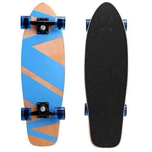 Ancheer-27-Cruiser-Skateboard-Complete-9-layer-Canadian-Maple-Wood-Skate-Board-for-Kids-Tenns-Adults-0