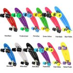 Ancheer-Mini-Cruiser-Skateboard-22-Complete-Classic-70s-Retro-Style-Plastic-Skate-Board-for-Teens-Kids-Age-4-Up-0-1