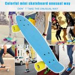 Ancheer-Mini-Cruiser-Skateboard-22-Complete-Classic-70s-Retro-Style-Plastic-Skate-Board-for-Teens-Kids-Age-4-Up-0-2