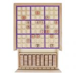 Andux land sudoku puzzle board game with drawer wooden number sd 02 purple hobby leisure mall - Puzzle boards with drawers ...