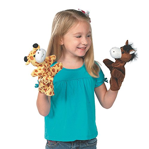 Animal-Puppets-825-Inches–12-Pieces–Assorted-Hand-Puppet-Animals-Includes-Arms-And-Legs-Great-Party-Favors-Fun-Toy-Gift-Prize–By-Kidsco-0-0