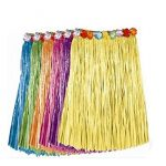 BOSHENG-Tropical-Multi-Colored-Adult-Sized-Artificial-Grass-Hula-SkirtsSet-of-6-0
