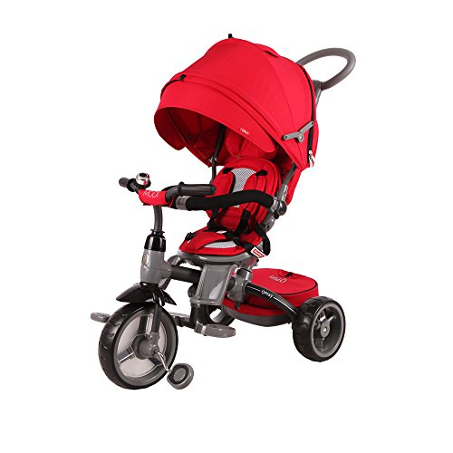 BP-6-in-1-Deluxe-Baby-Stroller-Tricycle-Grow-With-Me-Trike-with-One-Button-Rotating-Seat-Function-for-Interaction-with-Parents-Push-Bar-Storage-Bag-Included-0-2