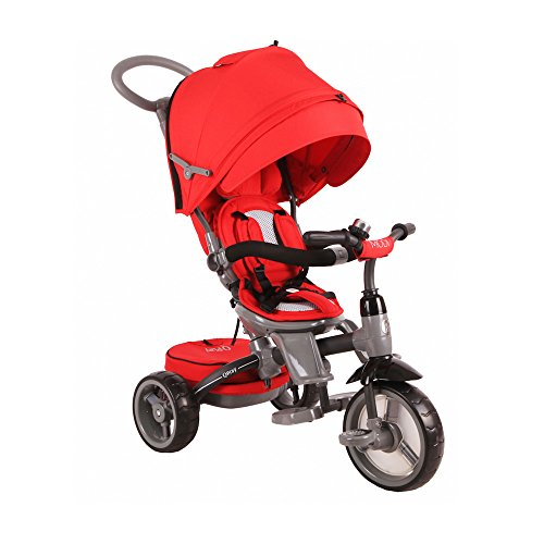BP-6-in-1-Deluxe-Baby-Stroller-Tricycle-Grow-With-Me-Trike-with-One-Button-Rotating-Seat-Function-for-Interaction-with-Parents-Push-Bar-Storage-Bag-Included-0