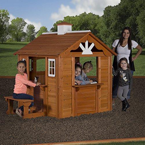 Backyard Discovery Summer Cottage All Cedar Wood Playhouse ...